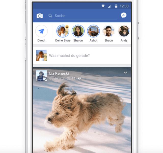 Facebook Stories öffentlich mit Facebook Abonnenten teilen