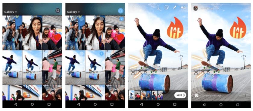 Uplaod Instagram Stories - mehrere Fotos und Videos gleichzeitig