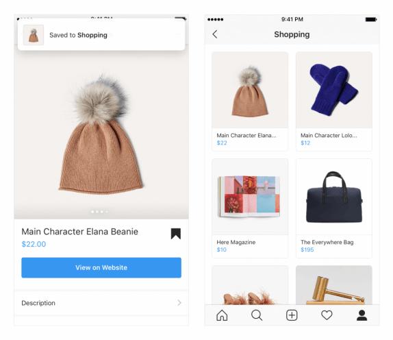 Instagram SHOPPING - Sammlung