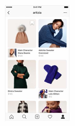 Instagram SHOPPING - Shop Reiter neues Design