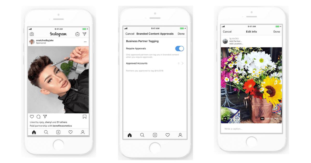 Instagram Branded Content Anzeige