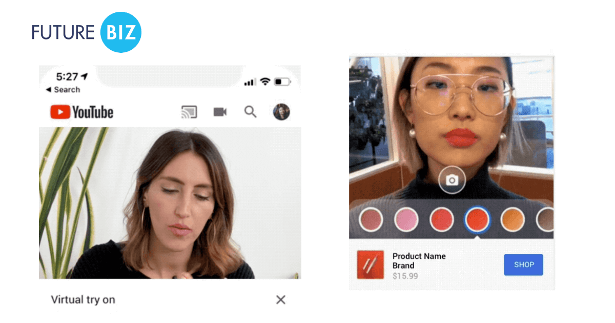 YouTube AR Beauty Try-On