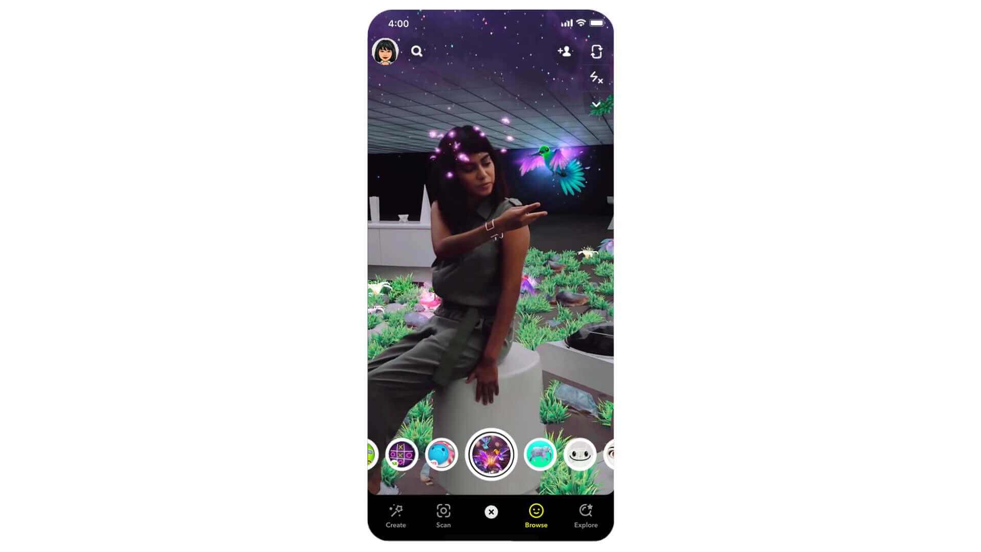 Insta :  Objectifs Snapchat Lidar pour iPhone 12 Pro