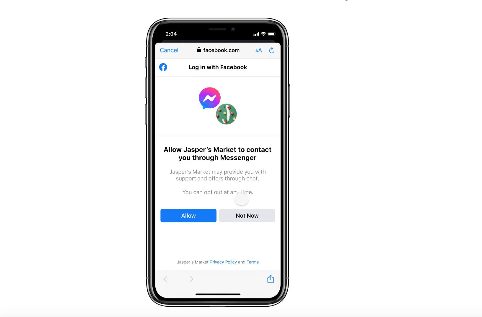 Facebook-Login-Connect-Messenger