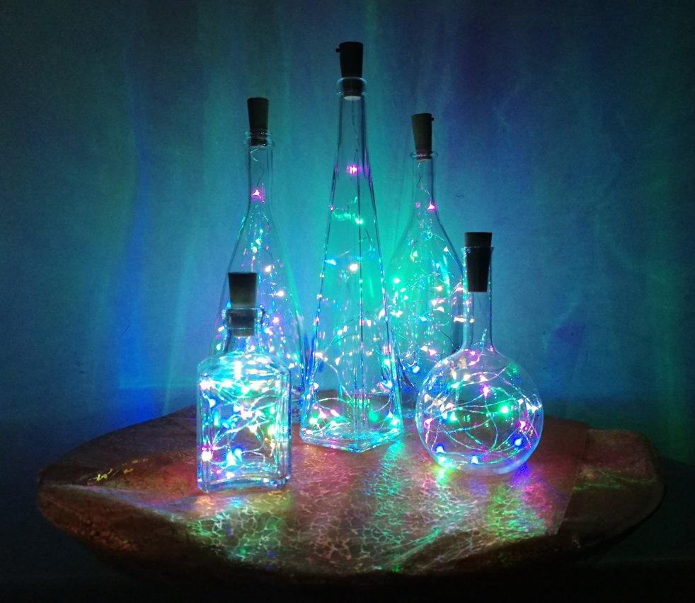 bottiglie luminose natale
