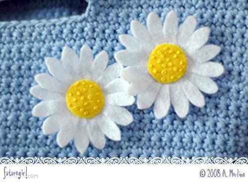 daisy 14 - Tutorial Margaridas em feltro