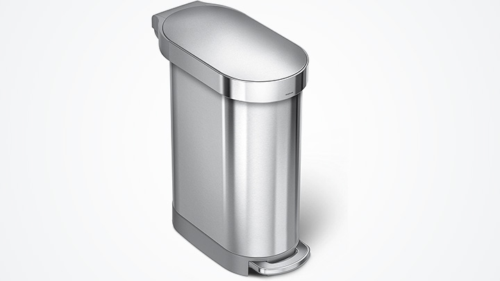 slim trash can