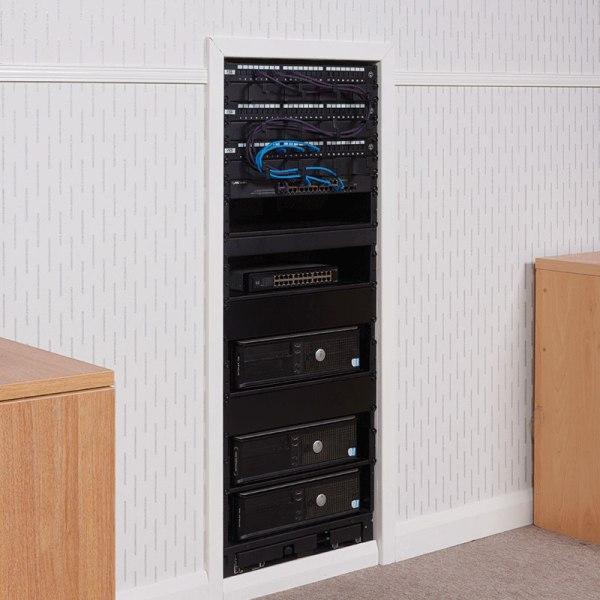 inwall slide rotate rack in between two cupboards