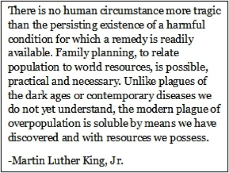 MLK Population Quote