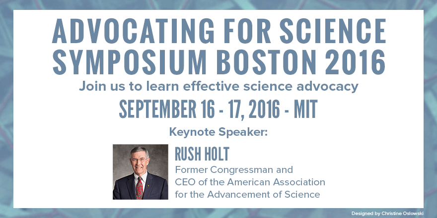 """Travel Scholarships to attend """"Advocating for Science"""" in Boston"""