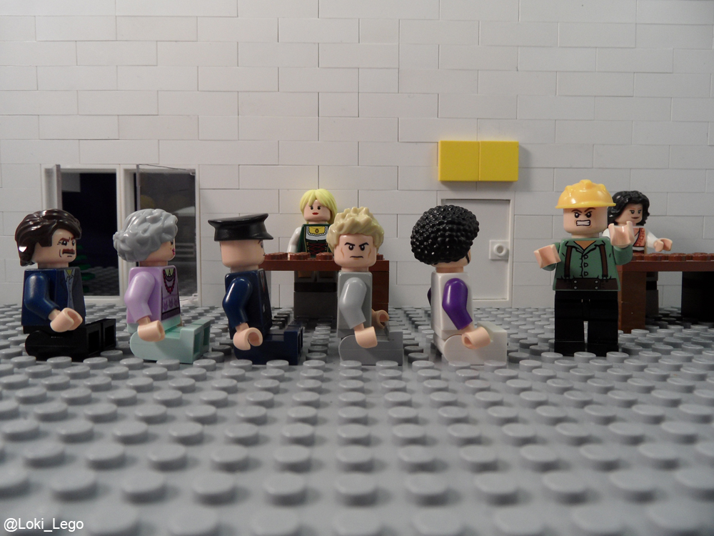 Behind the scenes of Lego High-Rise Page 17.