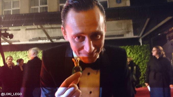 Lego Loki and Tom Hiddleston