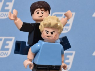 Tom Hiddleston at Ace Comic Con recreated in LEGO