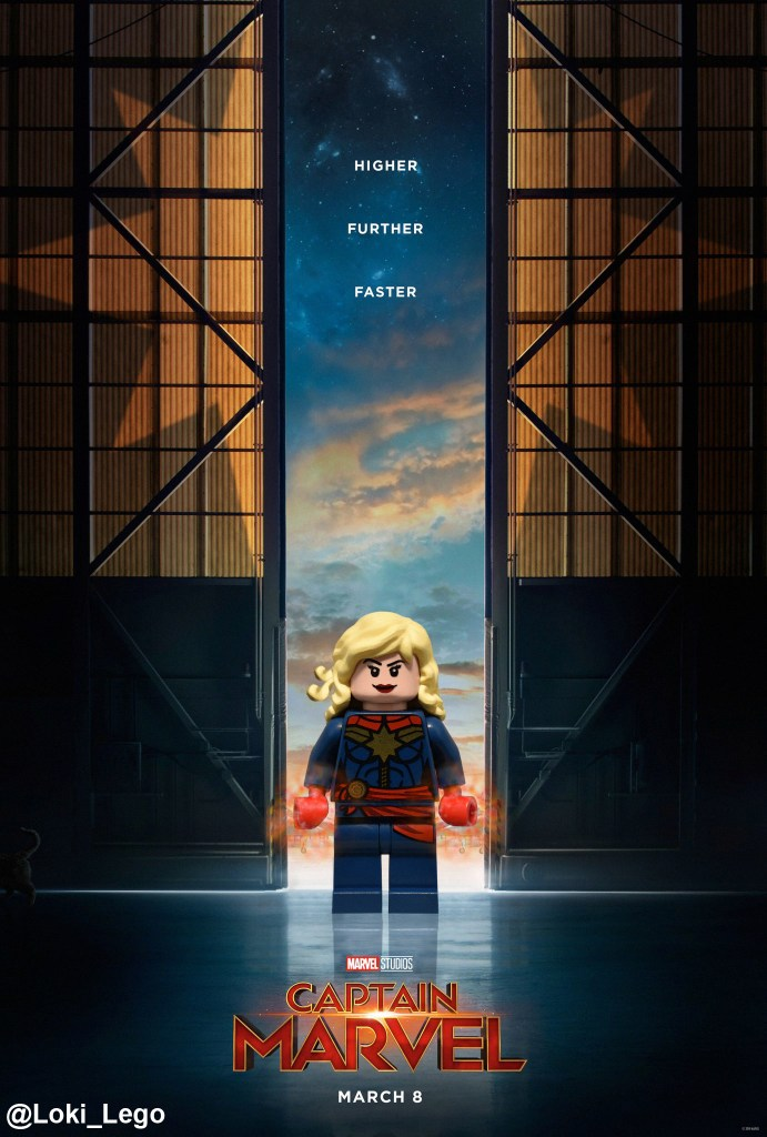 Captain Marvel Poster in LEGO