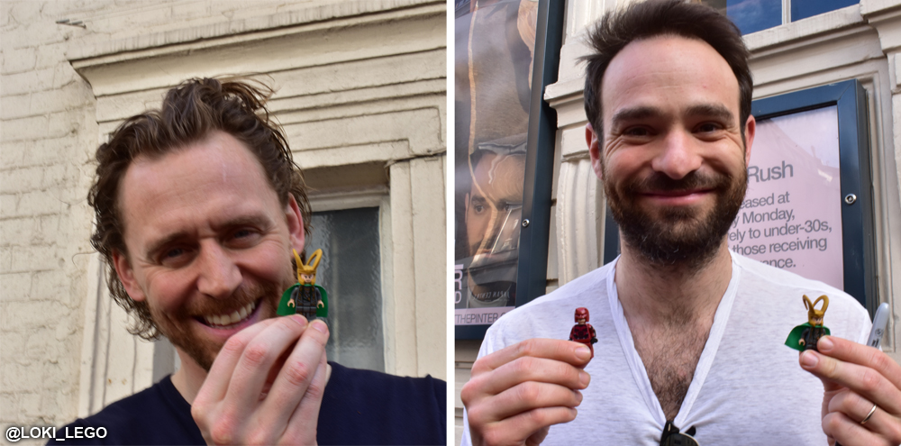 Tom Hiddleston and Charlie Cox