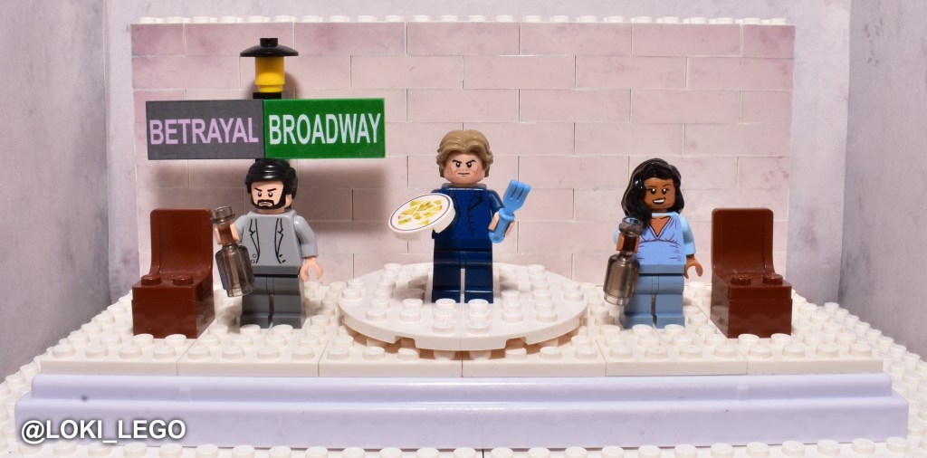 Custom LEGO Betrayal on Broadway Set