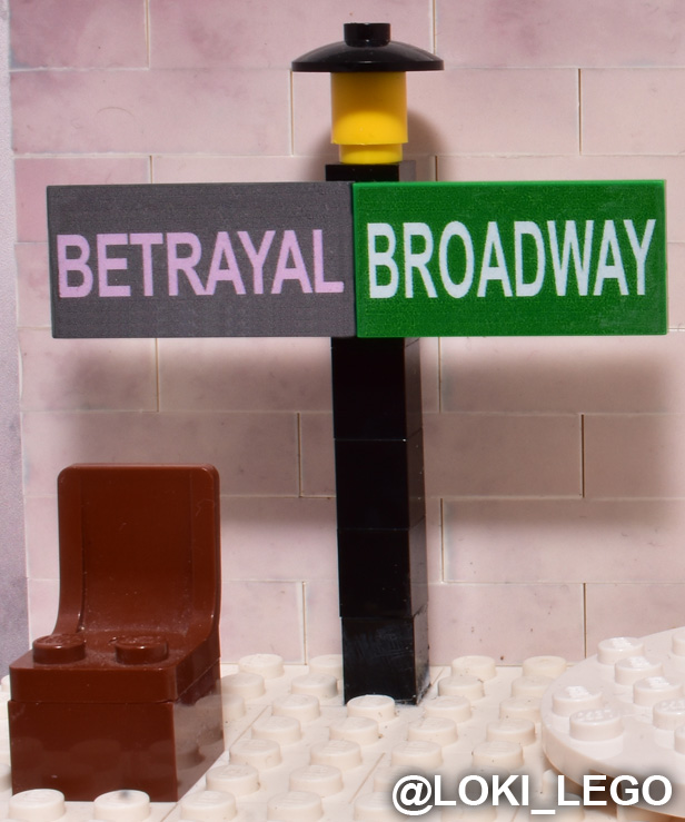 lego betrayal on broadway set