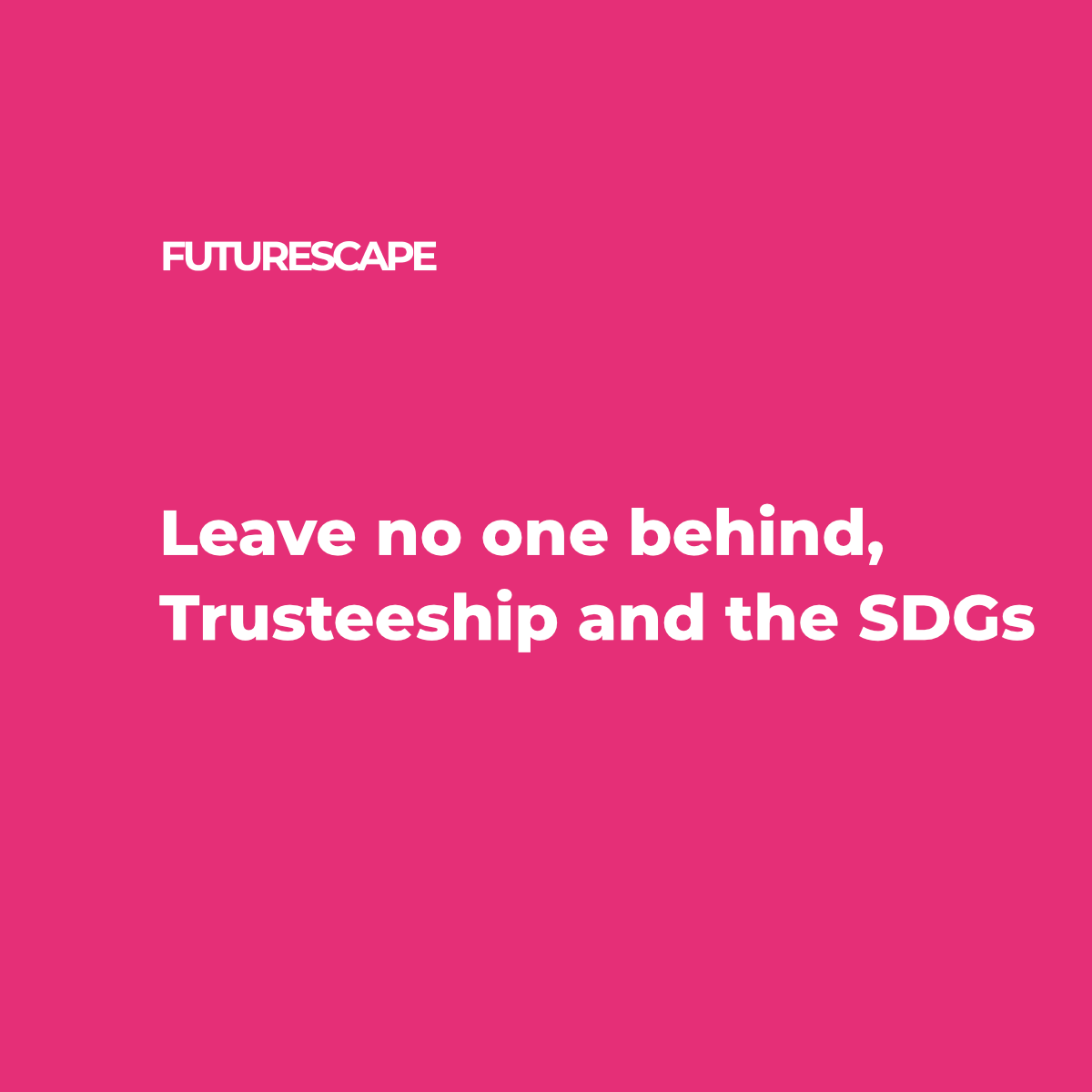 Leave no one behind-SDG-TW