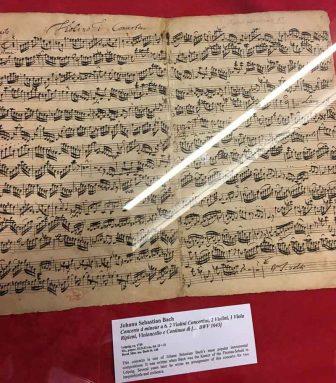 A Bach manuscript.