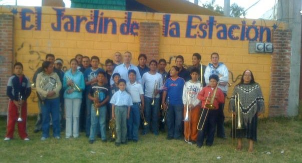 The author on a return visit to teach for a week in Metapec in 2013. Many of the students who attended are children of his students from his early years there.
