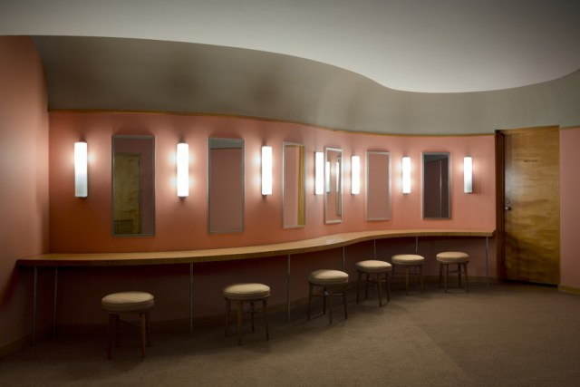 The powder room of the ladies' room on the mezzanine level. <i>Image credit:</i> Bilyana Dimitrova.