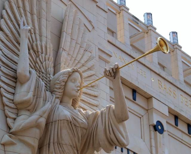 One of the angels that adorn Bass Hall. Image credit: Brenda Lovelace.