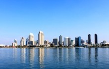 San Diego California from water.