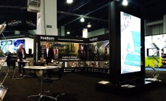 Future Systems stand at digital signage expo.
