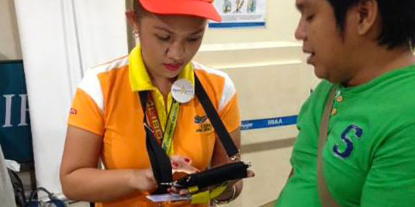 Roaming customer service agents - Cebu Pacific