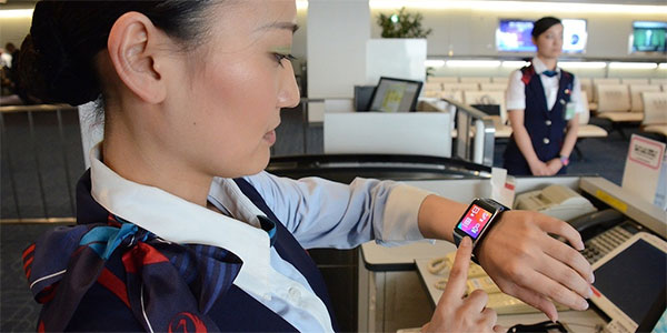 Japan Airlines recently trialled iBeacons and smartwatches at the gate at Tokyo Haneda Airport