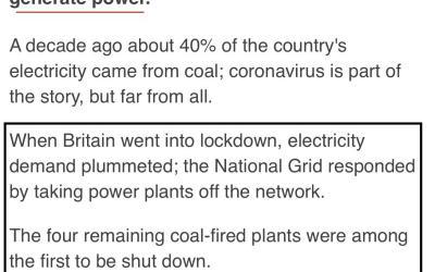 UK coal usage