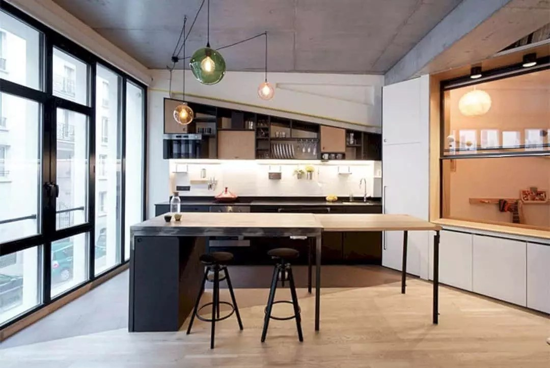 A Modern Family Apartment with Creative Small Space Solutions ...
