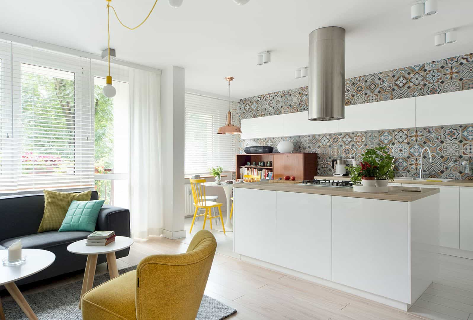 Mieszkanie Chorzow: A Colorful House with Bright and Contemporary Interior Design