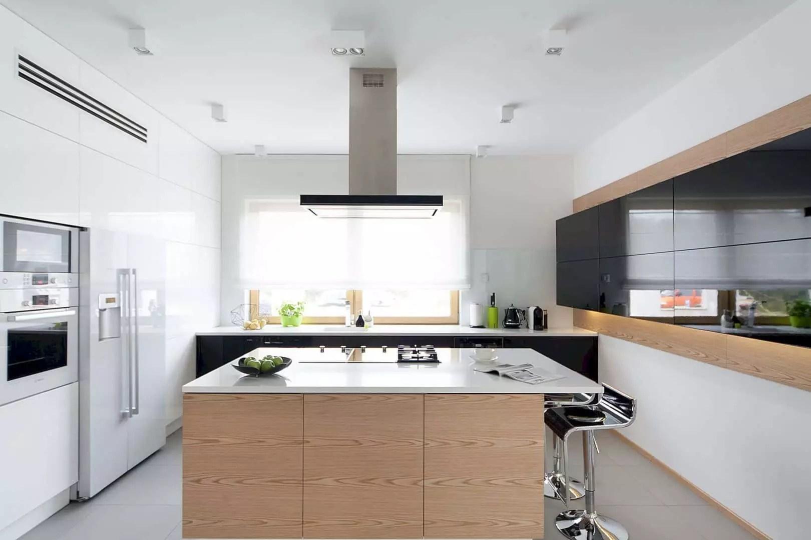 Willa W Jaworznie: Monochromatic Color Design with Modern Interior in A Minimalist House