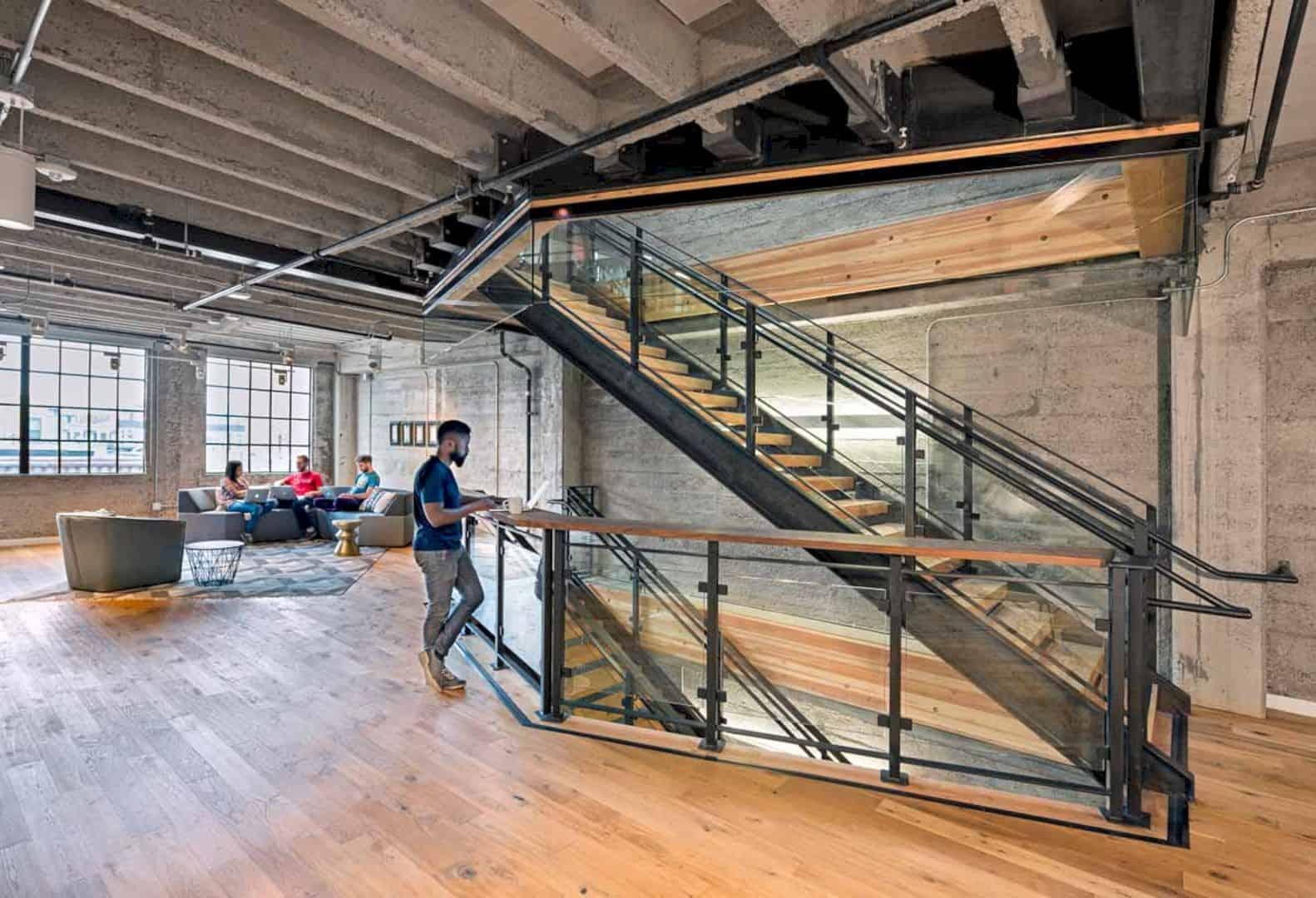 Clever Headquarters: Modern Interior of SOMA Warehouse in Dark Basement Level