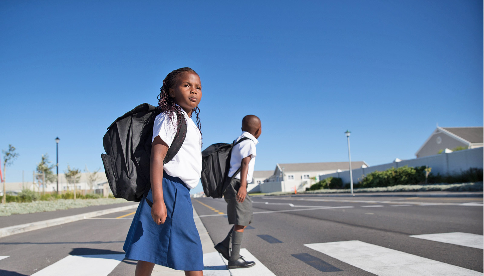 Kids Struggle To Safely Cross Busy Streets