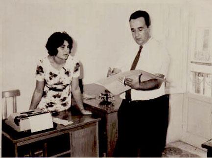 Nino Montanti con la segretaria di Trapani Nuova