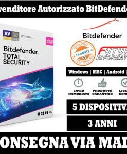 Bitdefender Total security 5 pc 3 Anni