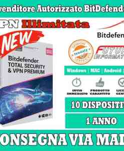 Total Security & VPN Premium 10 device 1 Anno
