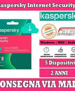 Kaspersky Internet Security 5 computer 2 Anni