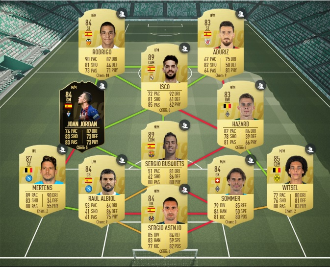 FUT 19 - Solution DCE Clarence Seedorf - Equipe notee a 86