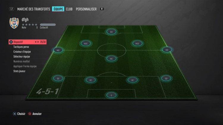 fut 20 guide des formations 4-5-1