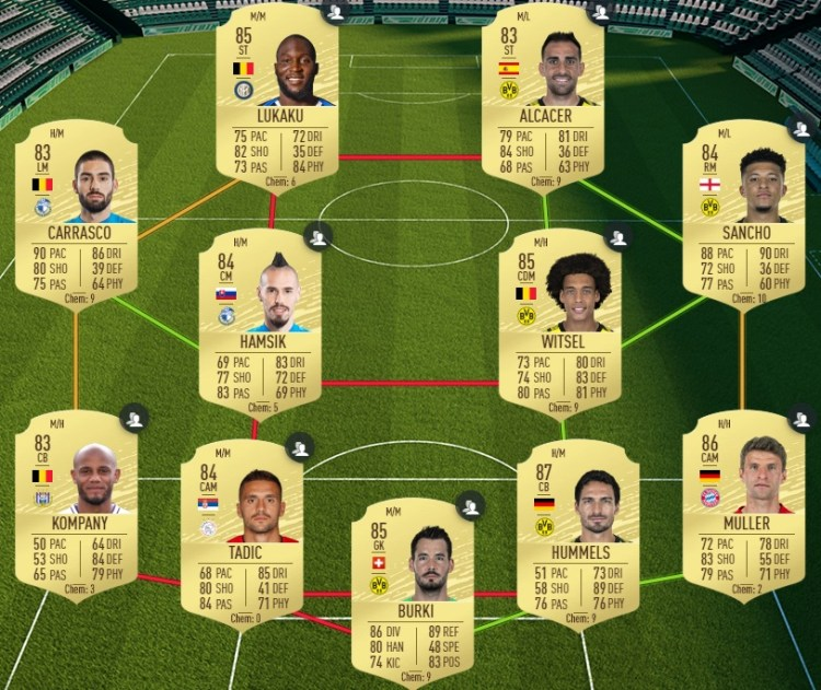 fut 20 solution dce jovic moments equipe 85