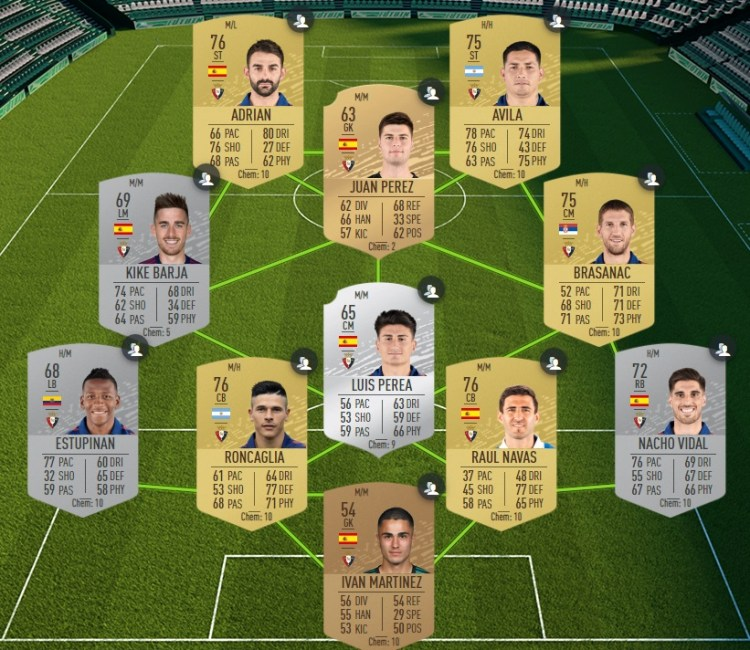 fut 20 solution dce laliga osasuna