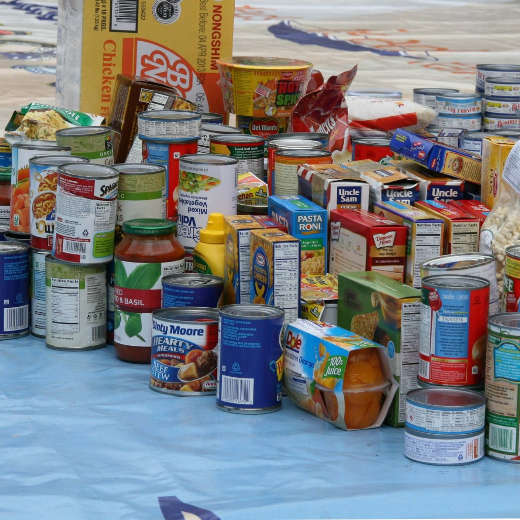 Donate food to Food Pantry