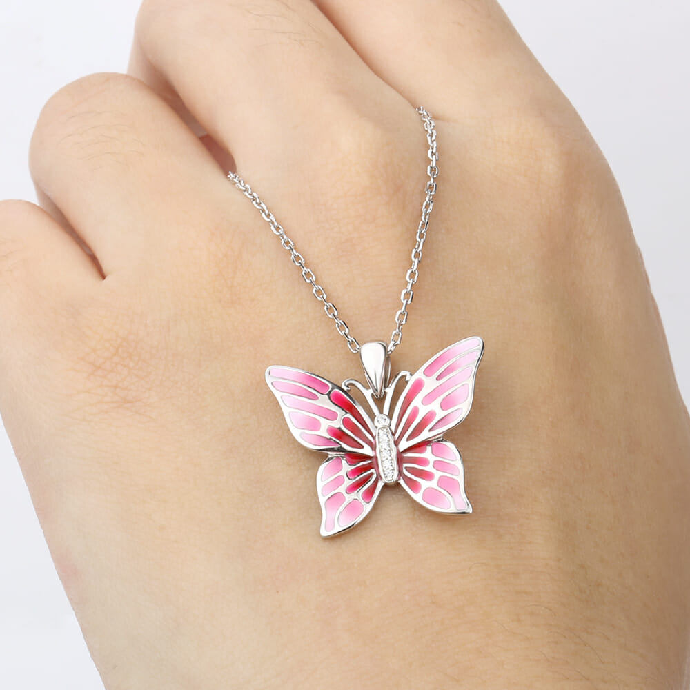 925 sterling silver chain pendant necklace fashion jewelry pink home accessories womens jewellery 925 sterling silver chain pendant necklace aloadofball Images