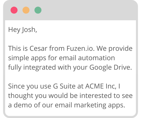 cold email automation example