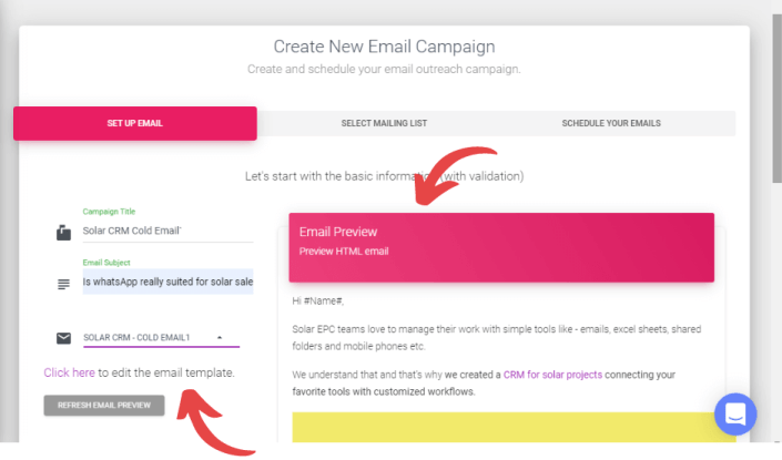 create new cold email marketing campaign