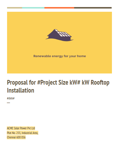 details proposal template for solar project