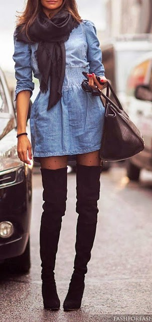 super tenue en jupe et cuissarde